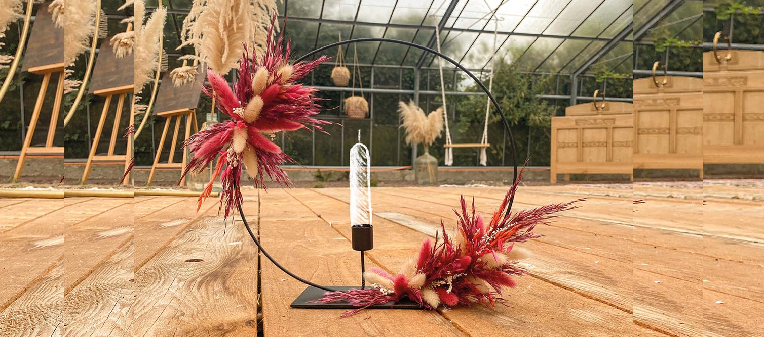 Kerzenring Workshop mit Trockenblumen